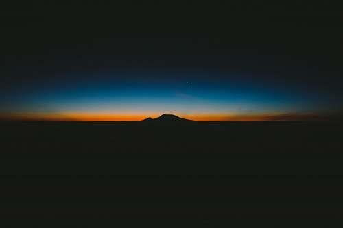 sky silhouette of mountain wallpaper