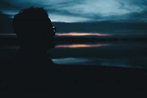 nature man wearing eyglasses silhouette