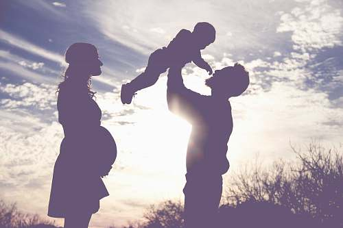 human silhouette of family silhouette