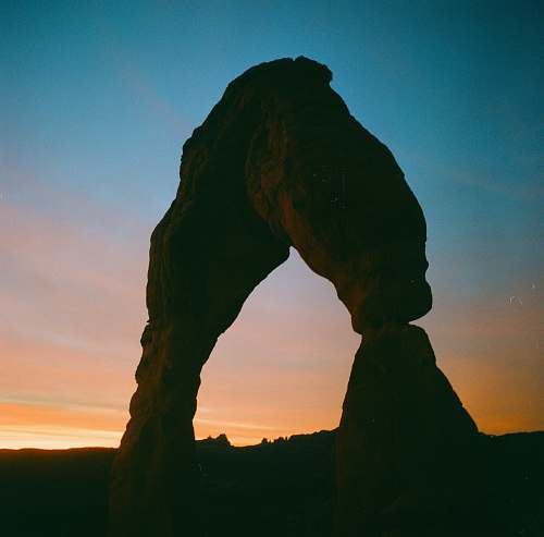 nature brown rock formation during sunset outdoors