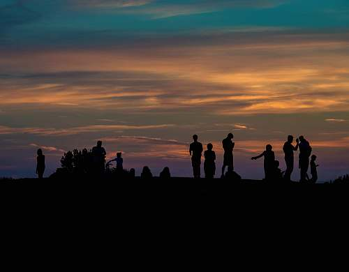 human group of people silhouette photography person