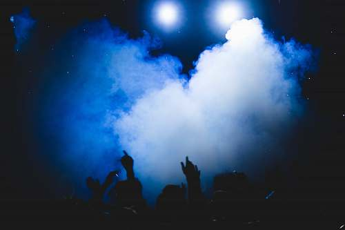 photo blue people and smoke photo evening free for commercial use images