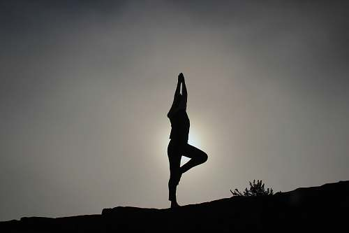 yoga person doing yoga exercises fitness