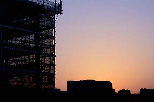 building silhouette of building construction
