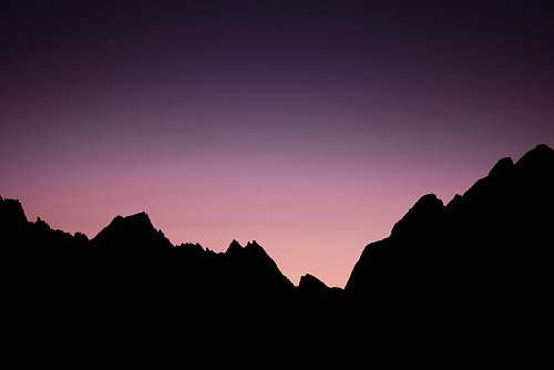 nature silhouette of mountains outdoors