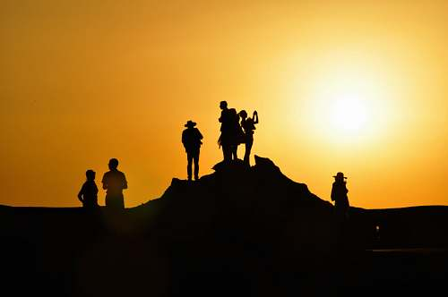 sun silhouette of people travel