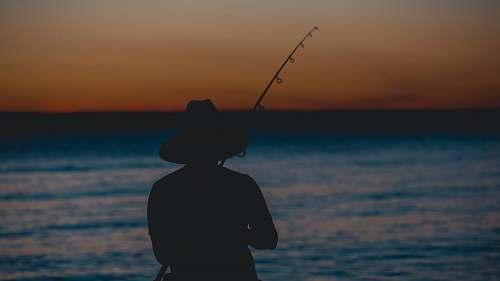 fishing silhouette of person fishing la paz