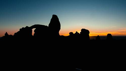 nature silhouette of rock formations outdoors