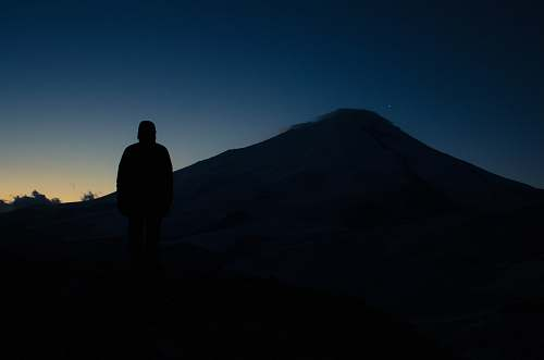 human silhouette photo of person person