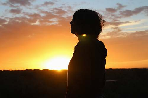 human silhouette photo of woman person
