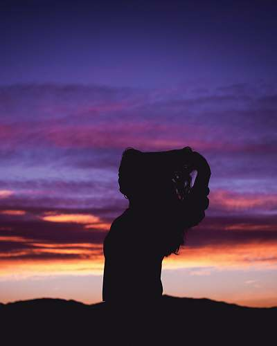 outdoors silhouette photograph of woman nature