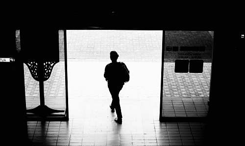 photo human silhouette photography of man black-and-white free for commercial use images