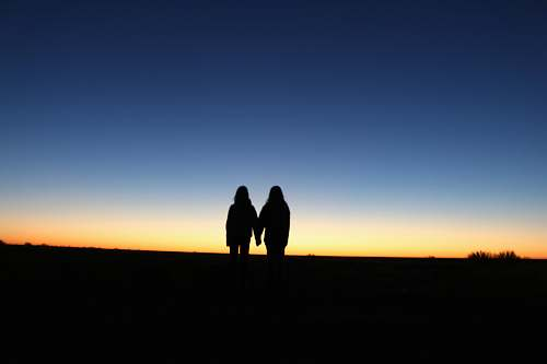 human silhouette photography unknown persons standing outdoors person