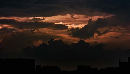 nature sunset with dramatic clouds outdoors