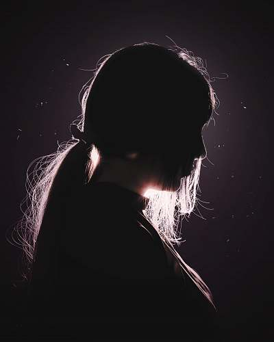 person woman's face hair