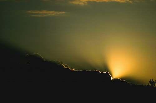 cloud sunshine through clouds during sunset sunlight