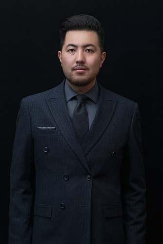 person man in black formal suit jacket people