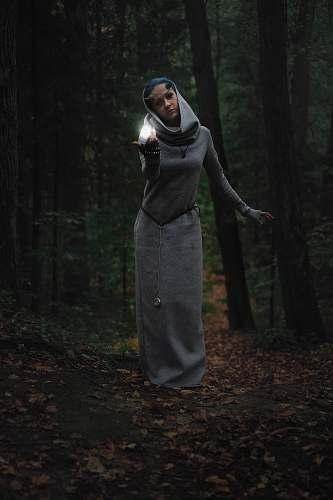people woman wearing long dress person