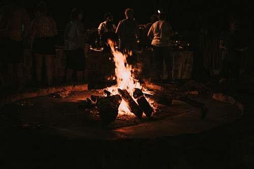 human bonfire person