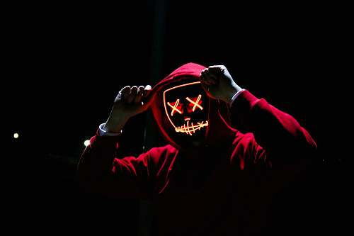 human man wearing red hoodie person