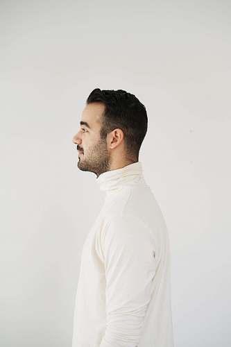 human man wearing white top person