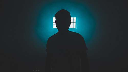 human silhouette of standing person person