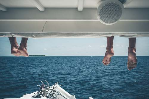 human two person on powerboat deck person