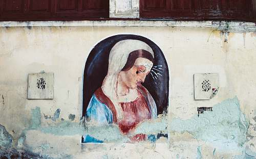 human virgin Mary painting person