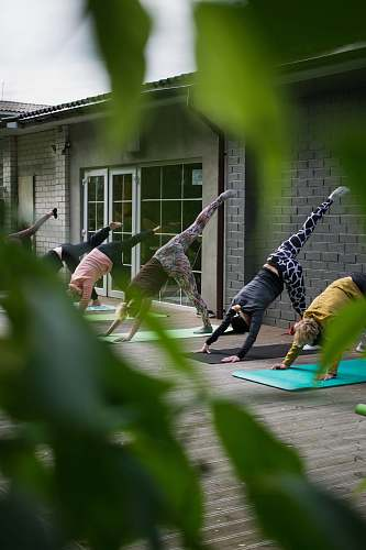 human woman doing exercise routine yoga