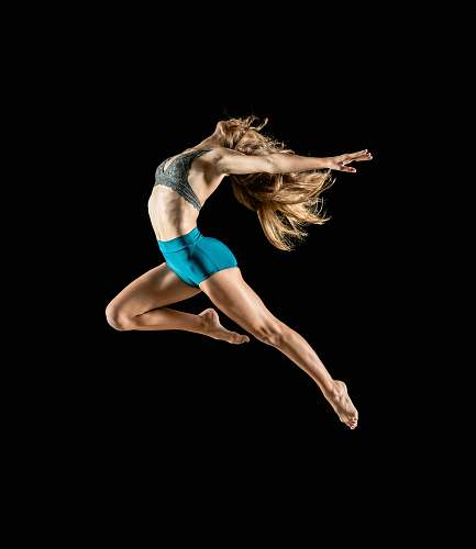 dance woman jumping and reflex her body leisure activities