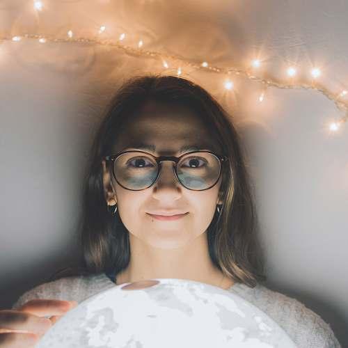 person woman wearing eyeglasses human