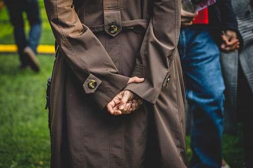 human women's brown coat person