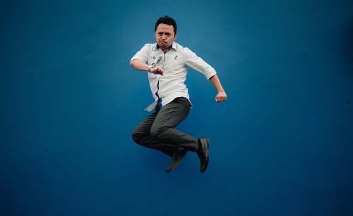 human man jumping high people
