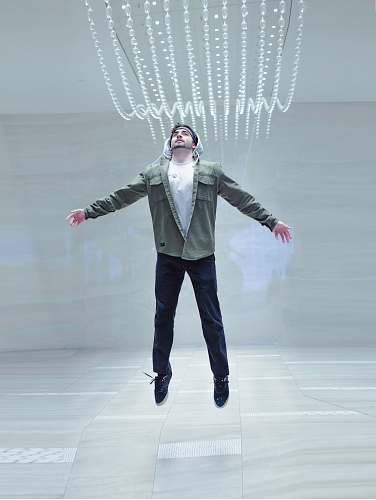 human man jumping midair people