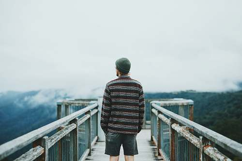 people man standing on dock human