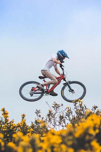 people man wearing helmet riding bicycle human