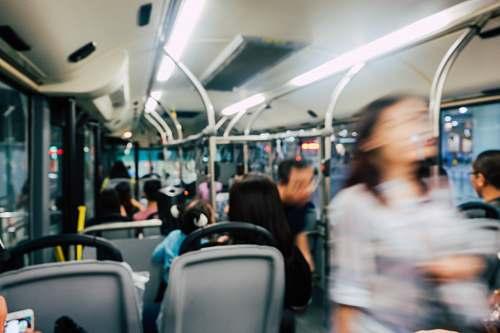 people people in bus human