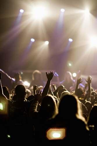 human people watching concert people