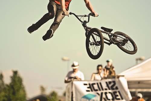 bmx person doing BMX tricks bike