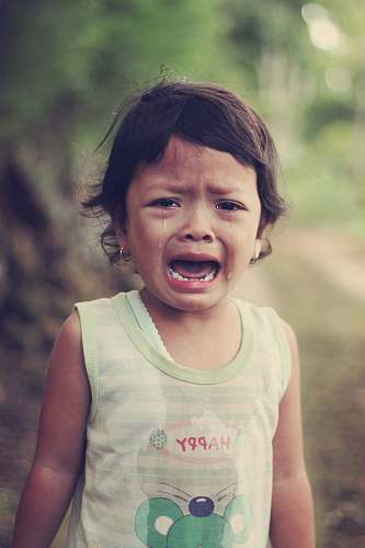 human selective focus photography of girl crying people
