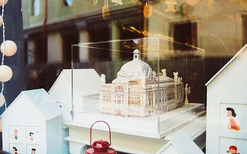 people Taj Mahal, India miniature human
