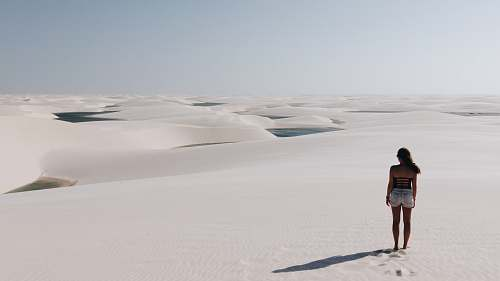 people woman standing on desert human