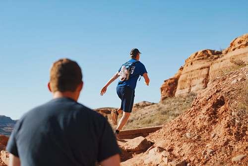clothing man running on boulder shorts