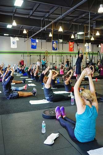 footwear people doing yoga inside gym shoe