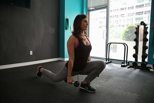 clothing woman exercising at a gym footwear