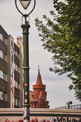 building brown concrete building spire