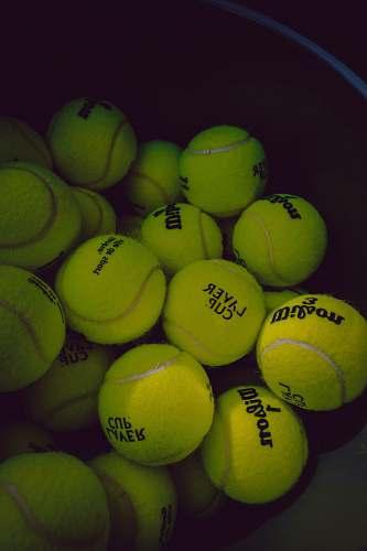sport tennis ball lot tennis
