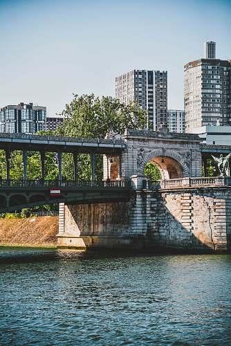 water gray concrete bridge architecture