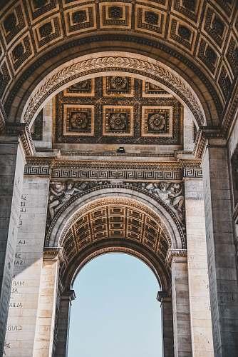 architecture white concrete arch pillar arch