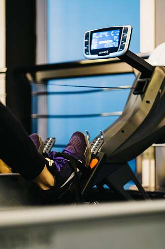footwear person on gym equipment exercising shoe